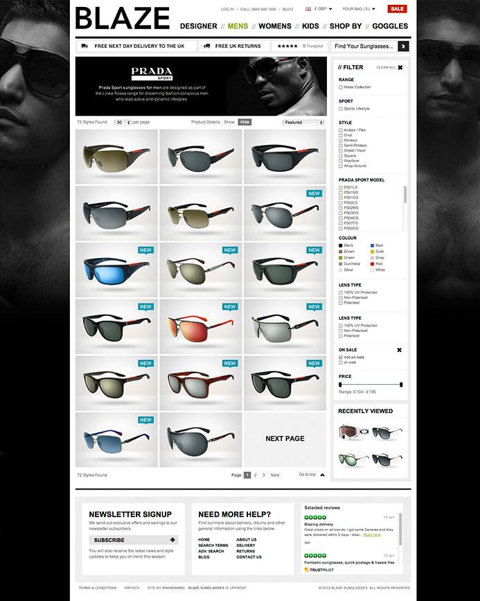 Blaze Sunglasses | E-Commerce