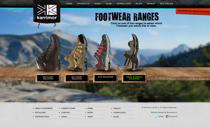 Karrimor | Website Design