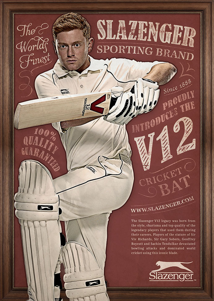 Slazenger Retro Cricket | Advertising