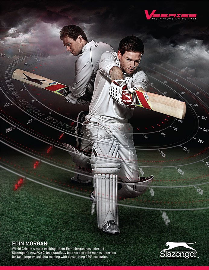 Slazenger Cricket Eoin Morgan | Advertising