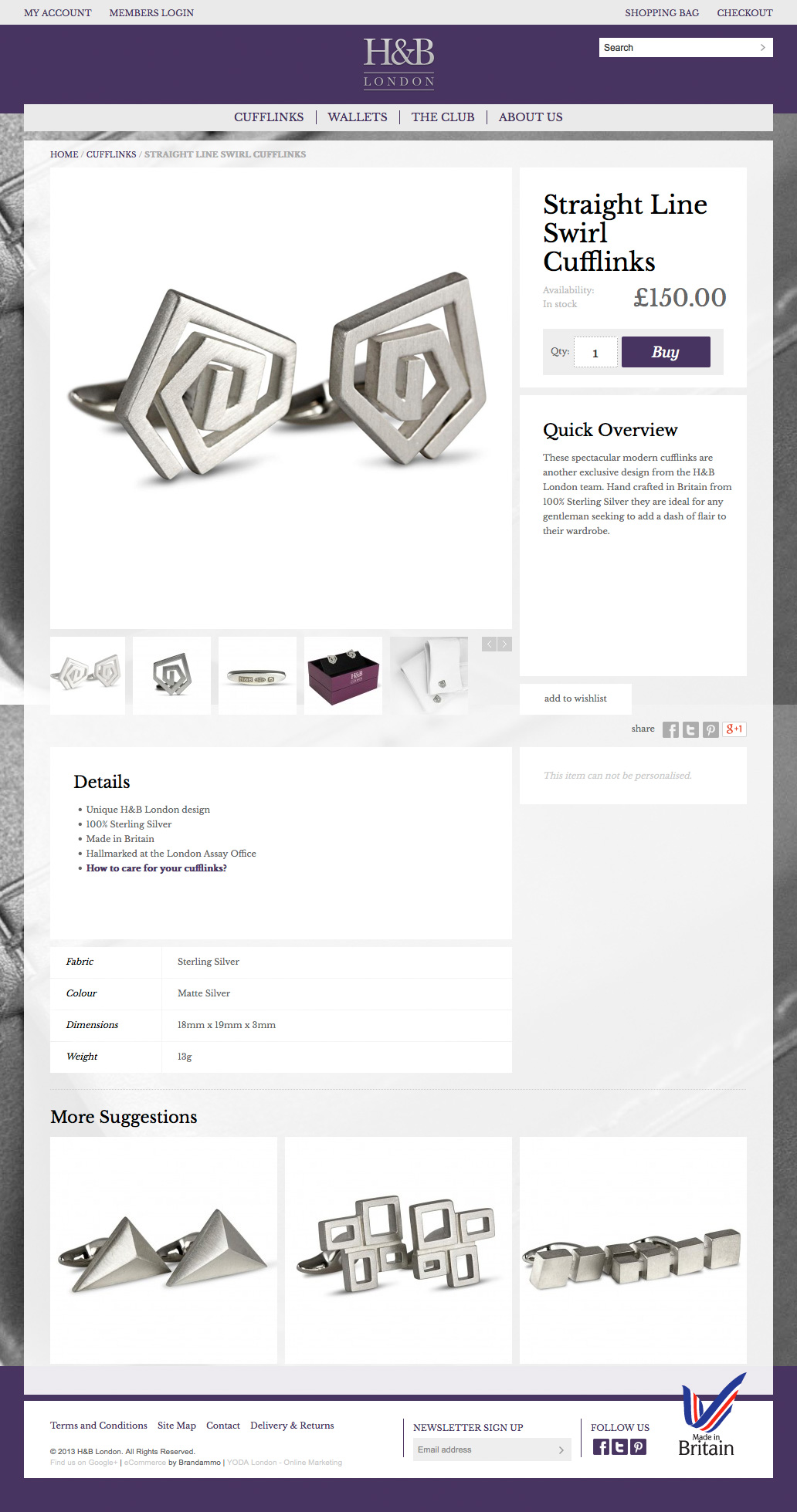H&B London E-Commerce Website