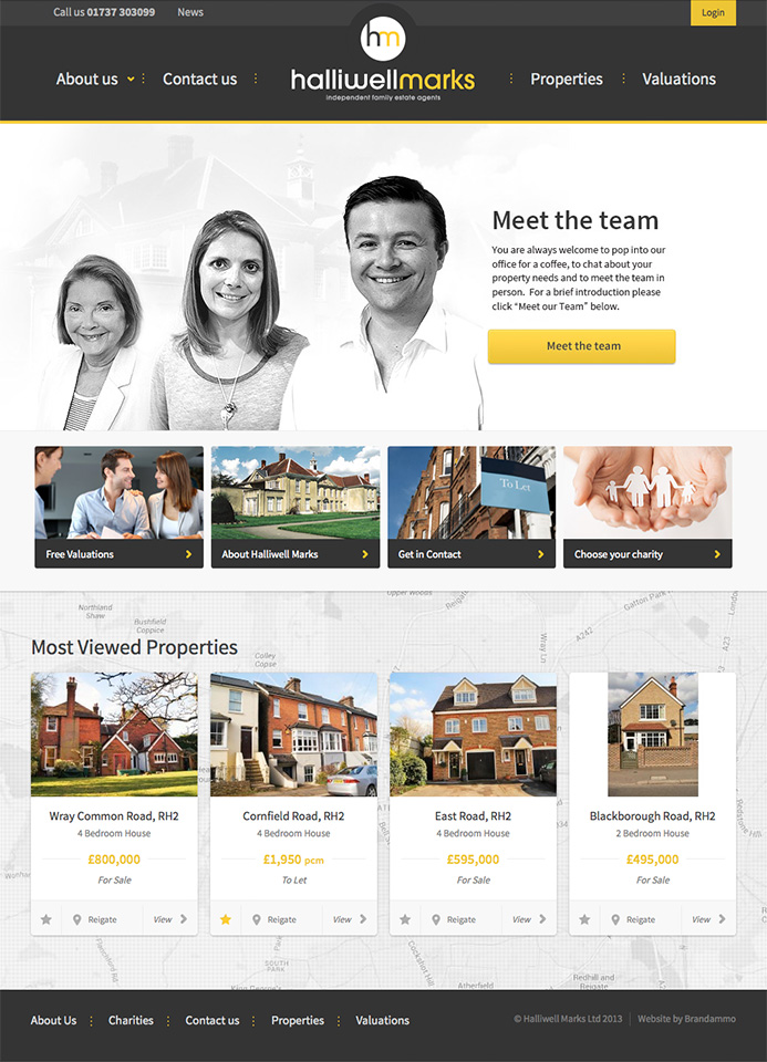 Halliwell Marks Estate Agents Website