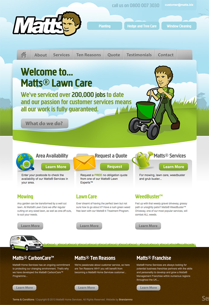 Matts Home Services Website
