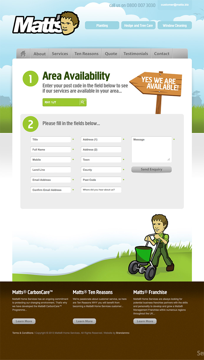 Matts Home Services Website