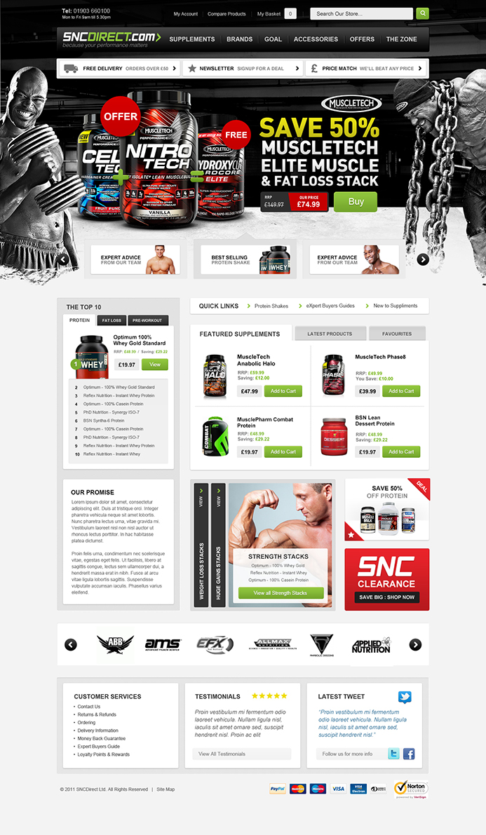 SNC Direct E-Commerce Website